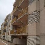 die Seitenansicht des Hotels - pardon: des Blocks