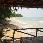 vue de la terrasse du bar plage