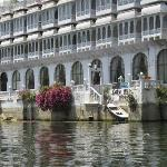 Lake Pichola Hotel from the boat - Upre is on the 3rd floor