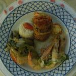 Langosta and shrimp! Was soo good! In room romantic dinner!