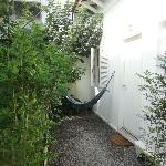 Outside Limoa - private hammock
