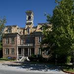 Morrill Hall, the first campus building, 1885