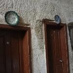 Beautiful locally made pottery adorn the doorways