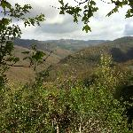 View from the hotel at the Umbrian mountains