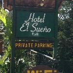 Sign for hotel