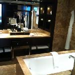 deluxe suite - bathroom. very chic.