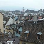 Across the rooftops of Zurich
