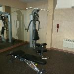 All in one exercise machine in fitness center