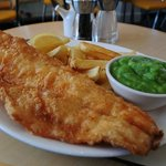Cod, Chips and Peas.
