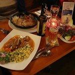 Roast Pork in Skillet, Goulash in Foreground