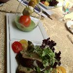 Shish Kabob of Vegetables in Green Goddess Dressing