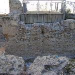 Restos de la Muralla árabe de Murcia.