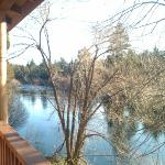Balcony on the river bank. This is why you would want to stay here.