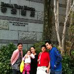 in the front of hotel..hehhe