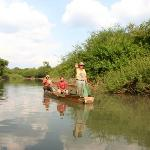 Fishermans while going to Aguateca ruins, Petexbatun lagoon, Guatemala