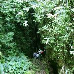 Going to Aguateca ruins, jungle, Guatemala