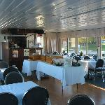 Our Lower Gallery - Fully enclosed for dining cruises