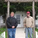 In front of the Garst Family Farmhouse