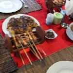 Chicken satay from our own restaurant