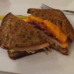 Turkey Melt on Whole Grain Bread