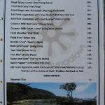 Food Menu - Mains - as of April 2012