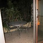 Little patio overlooking LOUD bar