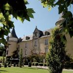 Front of Chateau through trees