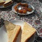 Veg continental breakfast