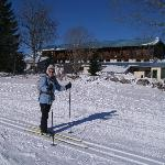 Vue de l'hôtel depuis la piste de skis
