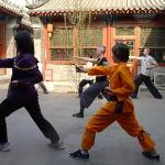 kung fu in the courtyard