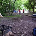 Bonham SP - 2012 Camp playing horse-shoes