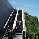 Escalators to/from the beach!