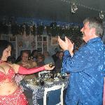 Our Belly Dancer and the big lug (me)