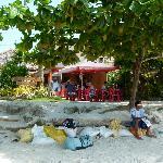 Kiosk-Café. Blick vom Strand