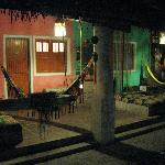 Colourfull rooms with hammock