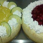 Keylime Cheesecake and Cherry Cheesecake