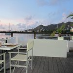 View of Simpson Bay from out table.