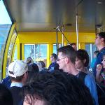 Riding the tram above the valley of the Blue Mountains.