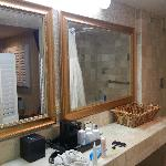 Mirrors in the bathroom