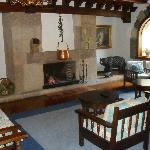 ground floor lounge with log fire - so comfortable