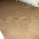 Sodden carpet and tray verifying there is a leak with the radiator.
