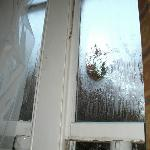 Terrible condensation on inside of bedroom window.