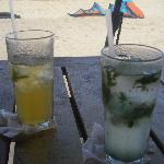 rum and lemonade and cucumber mojito