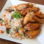 10 PCS With Combo Fried Rice