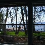 Rise and shine!  Our morning view from the Riverview Room in Lawton Lodge