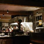 the open kitchen - chef Anan and staff hard at work