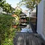 As you walk into Bali Yarrvillas