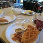 A half-eatenn breakfast