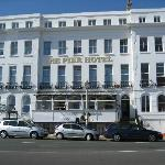 The Pier Hotel on Eastbourne Seafront.