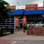 Outside Never Blue Restaurant in Hendersonville NC
